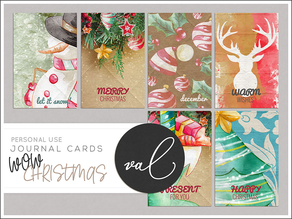 WOW Christmas {Journal Cards}