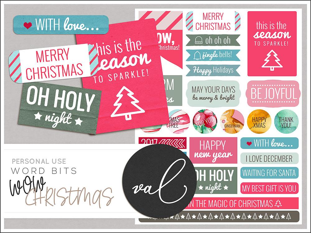WOW Christmas {Word Bits}