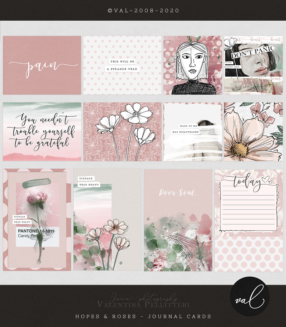 Hopes & Roses {Journal Cards}