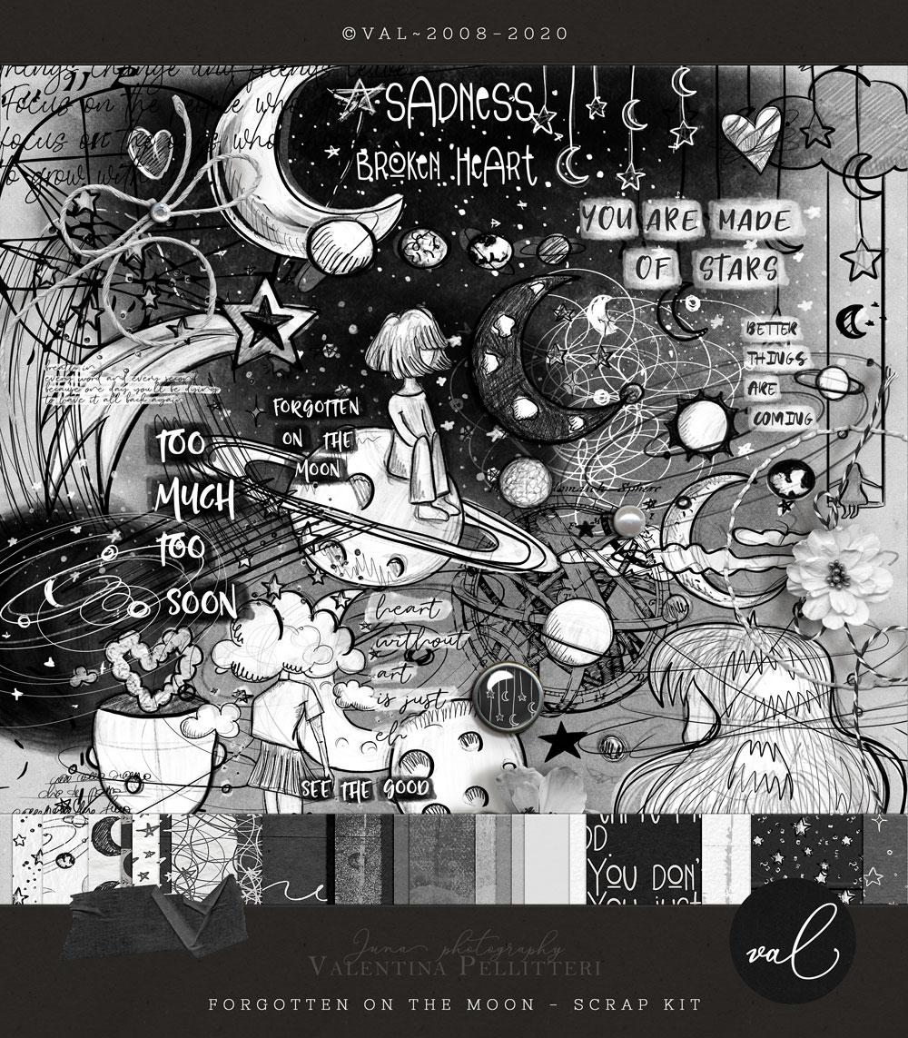 Forgotten on the moon {Scrap Kit}