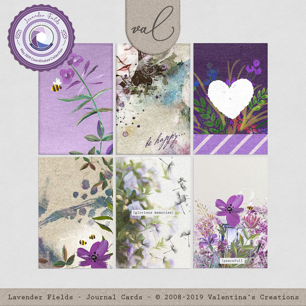 Lavender Fields {Journal Cards}