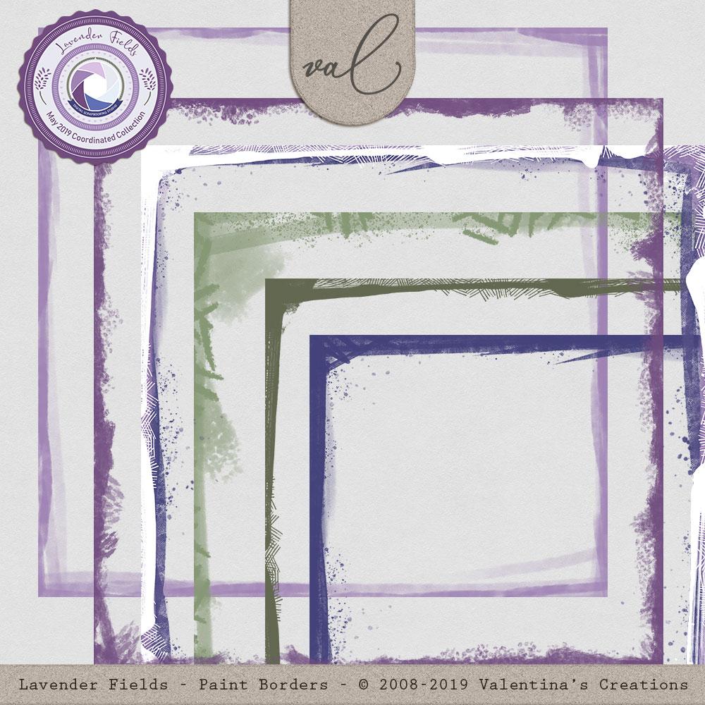 Lavender Fields {Paint Borders}