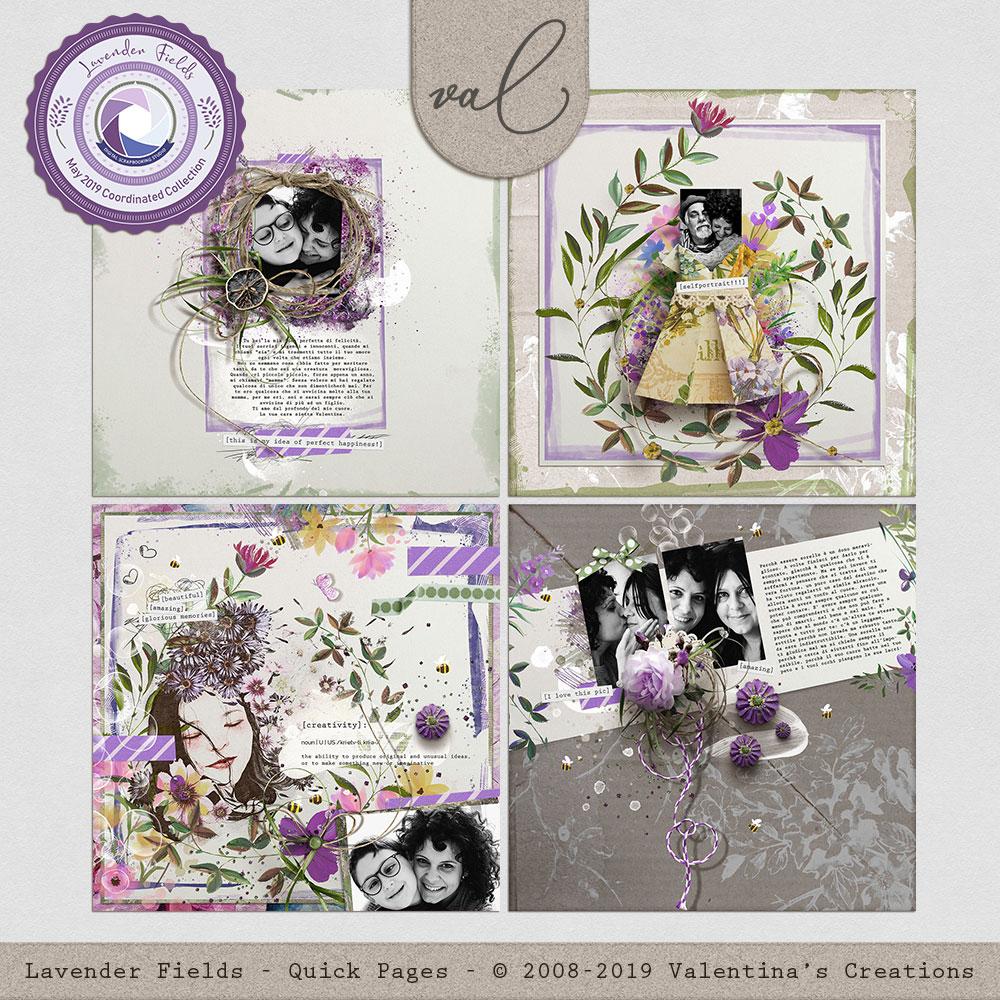 Lavender Fields {Quick Pages}