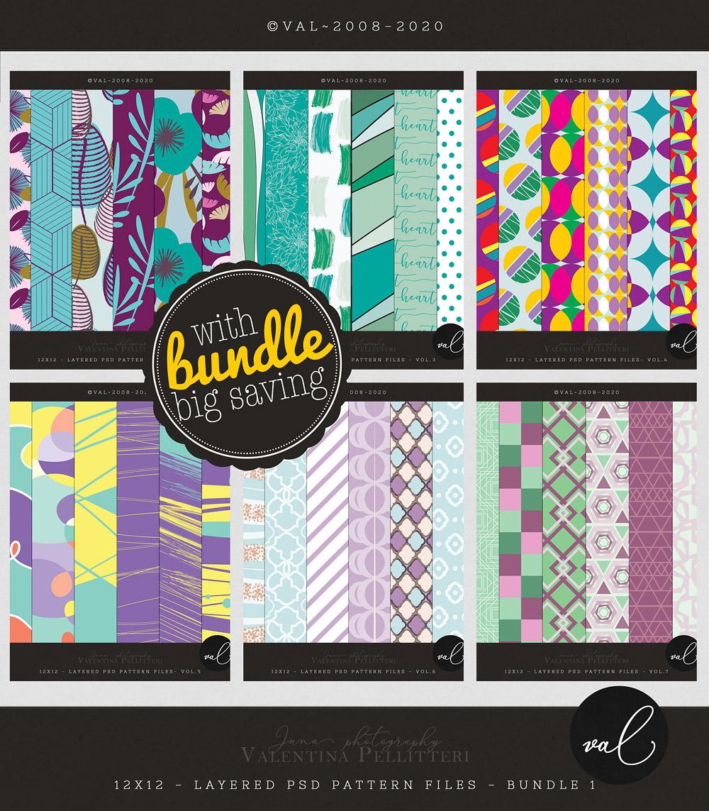 Layered Patterns 12x12 - Bundle 1