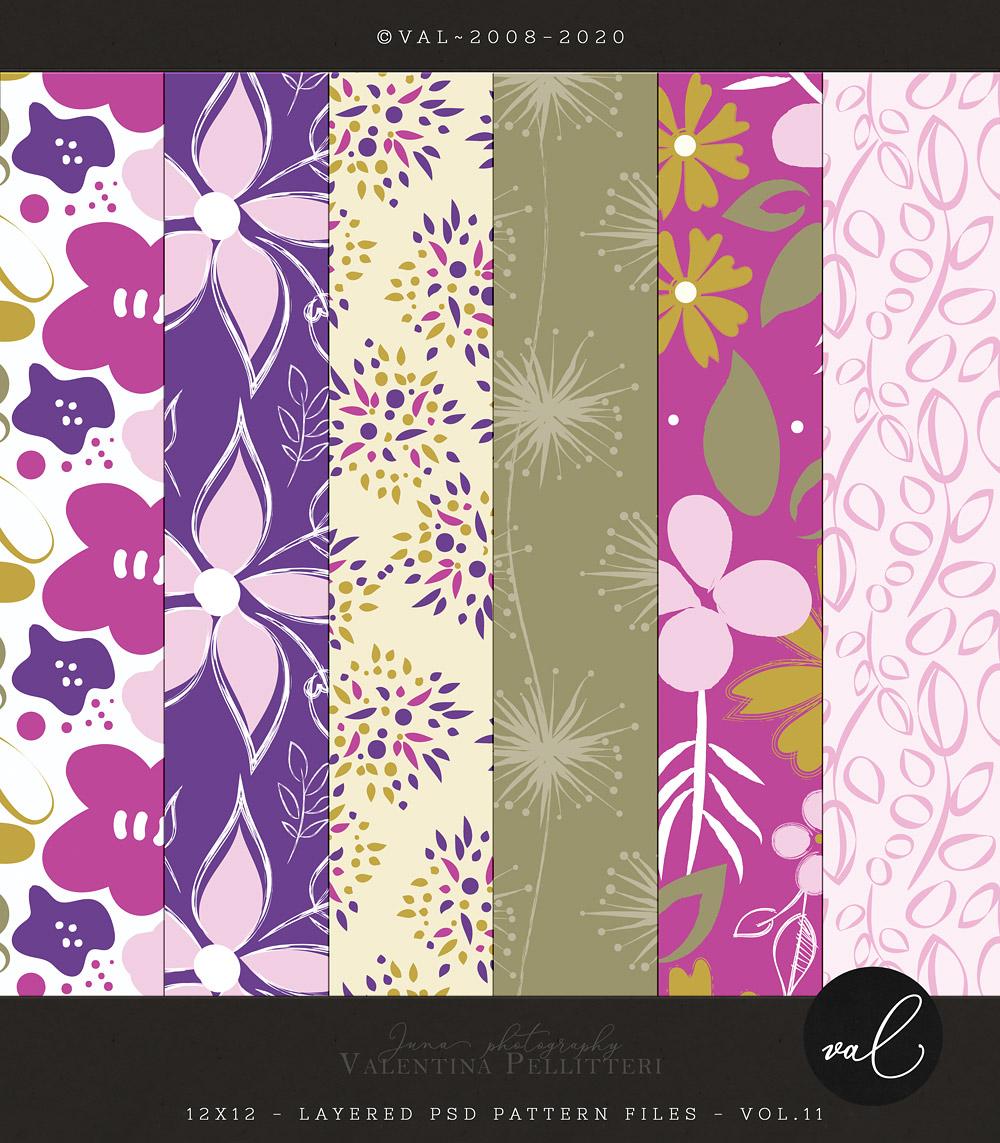 Layered Patterns 12x12 - Vol.11