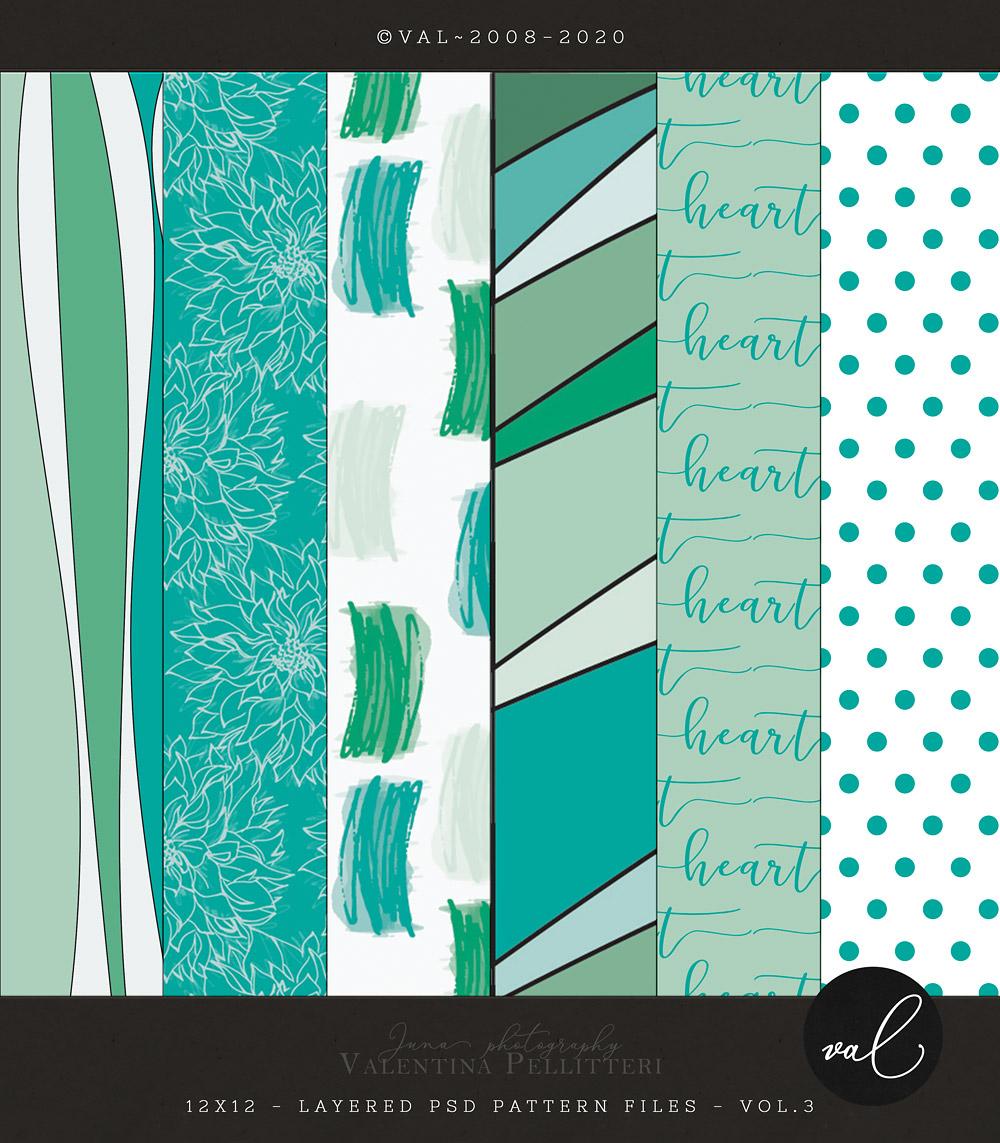 Layered Patterns 12x12 - Vol.3