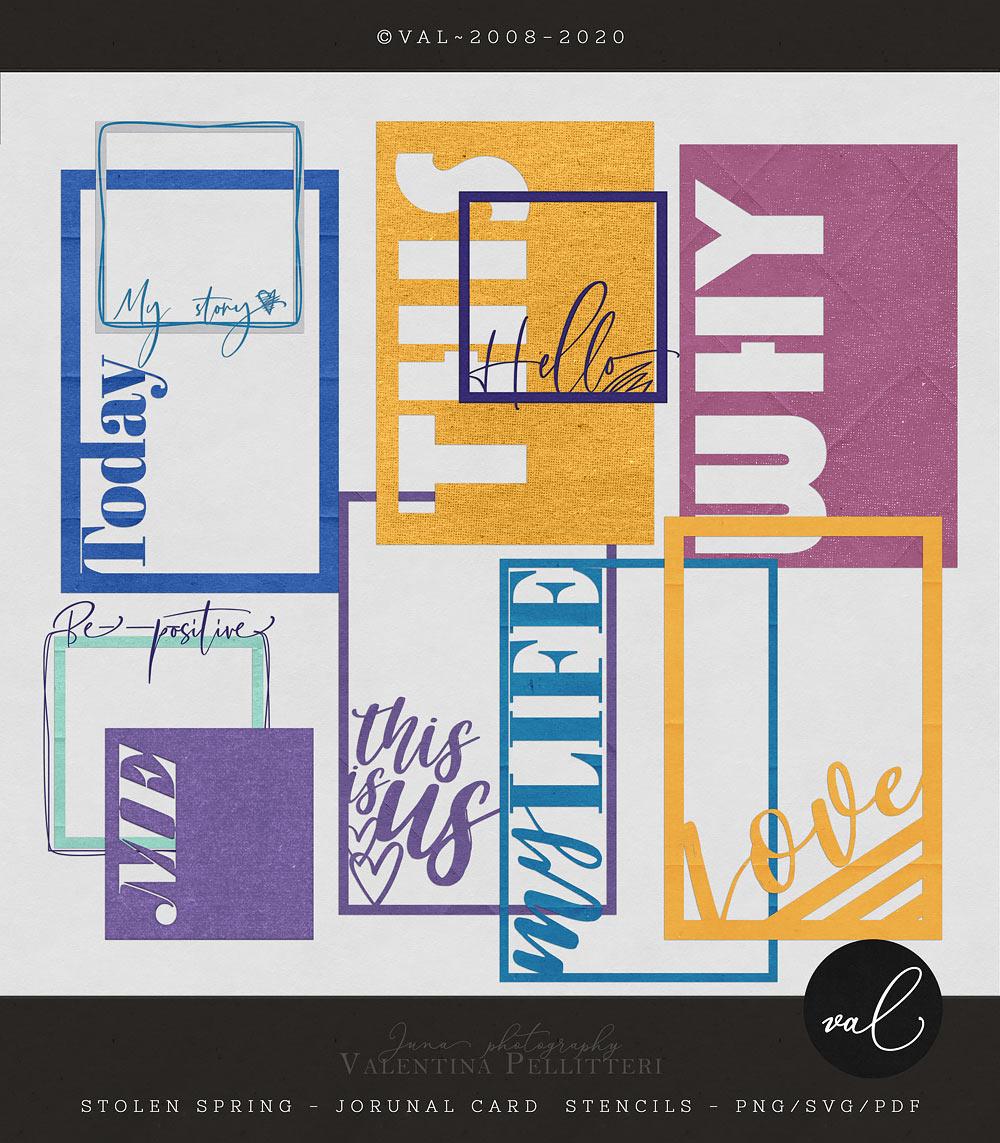 Stolen Spring {Journal Card Stencil}