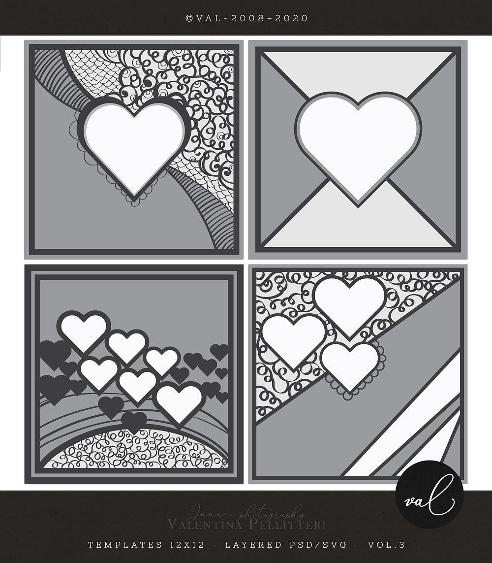 Layered Templates 12x12 - Vol.3