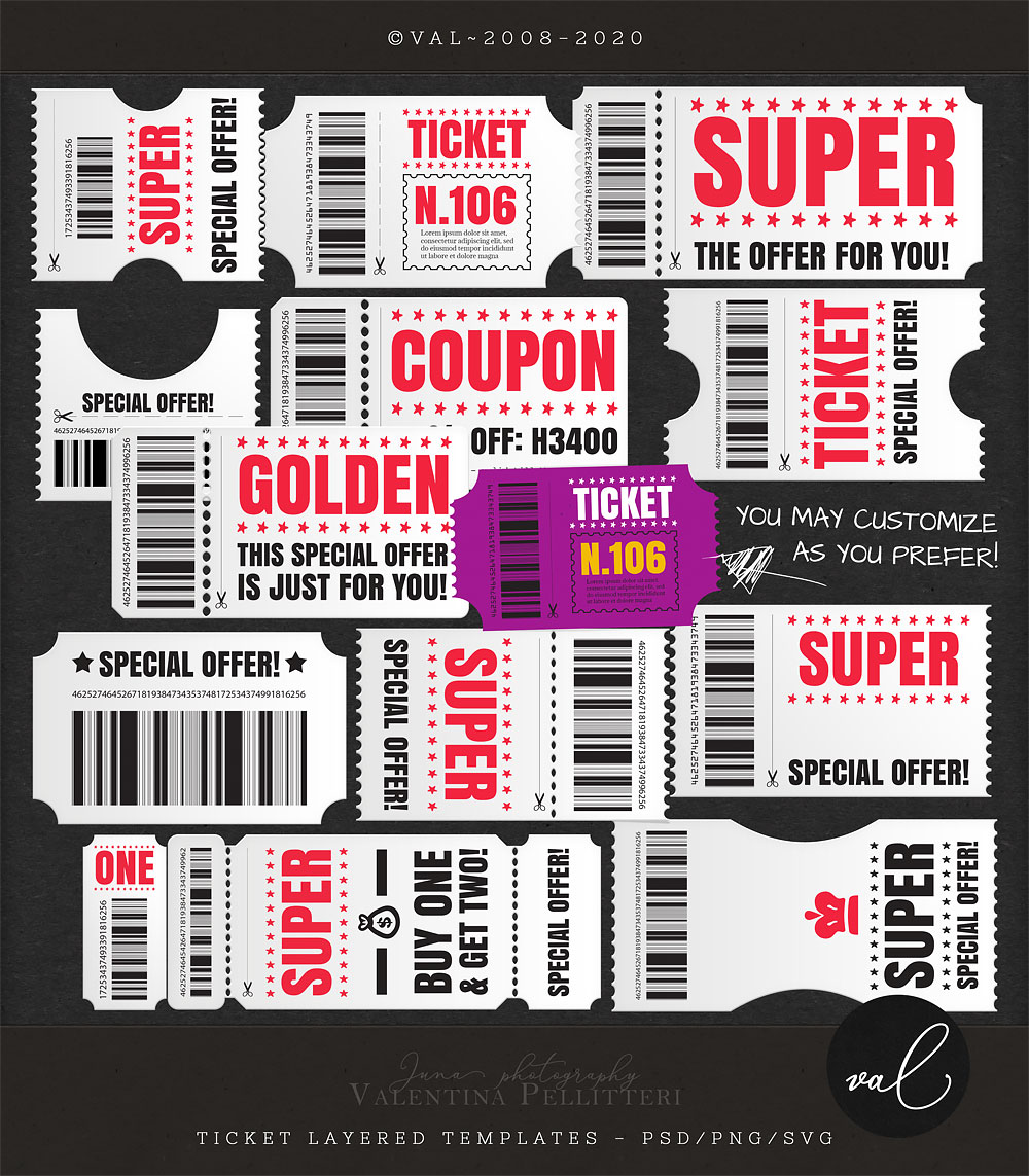 Layered Ticket Templates