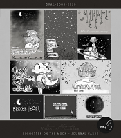 Forgotten on the moon {Journal Cards}