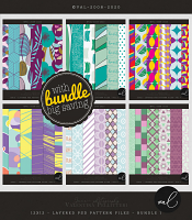 Layered Patterns 12x12 - Bundle 1