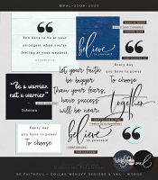 Be Faithful {Words} | Collab WendyP Designs & Val