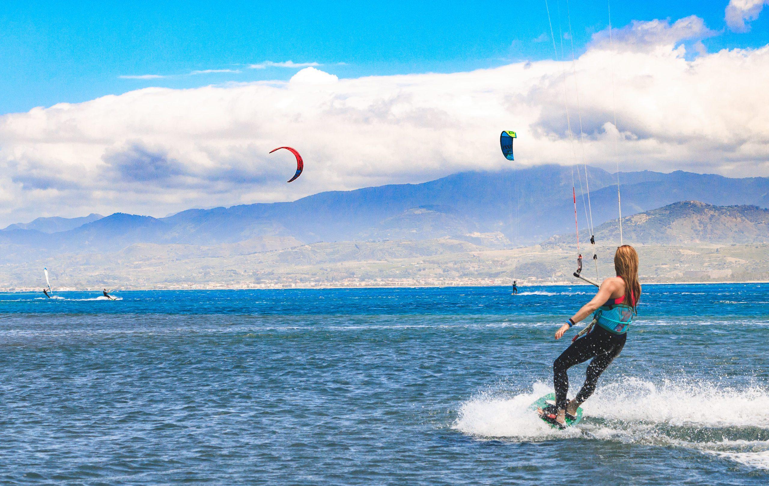 Kitesurf fotoreportage a Marinello