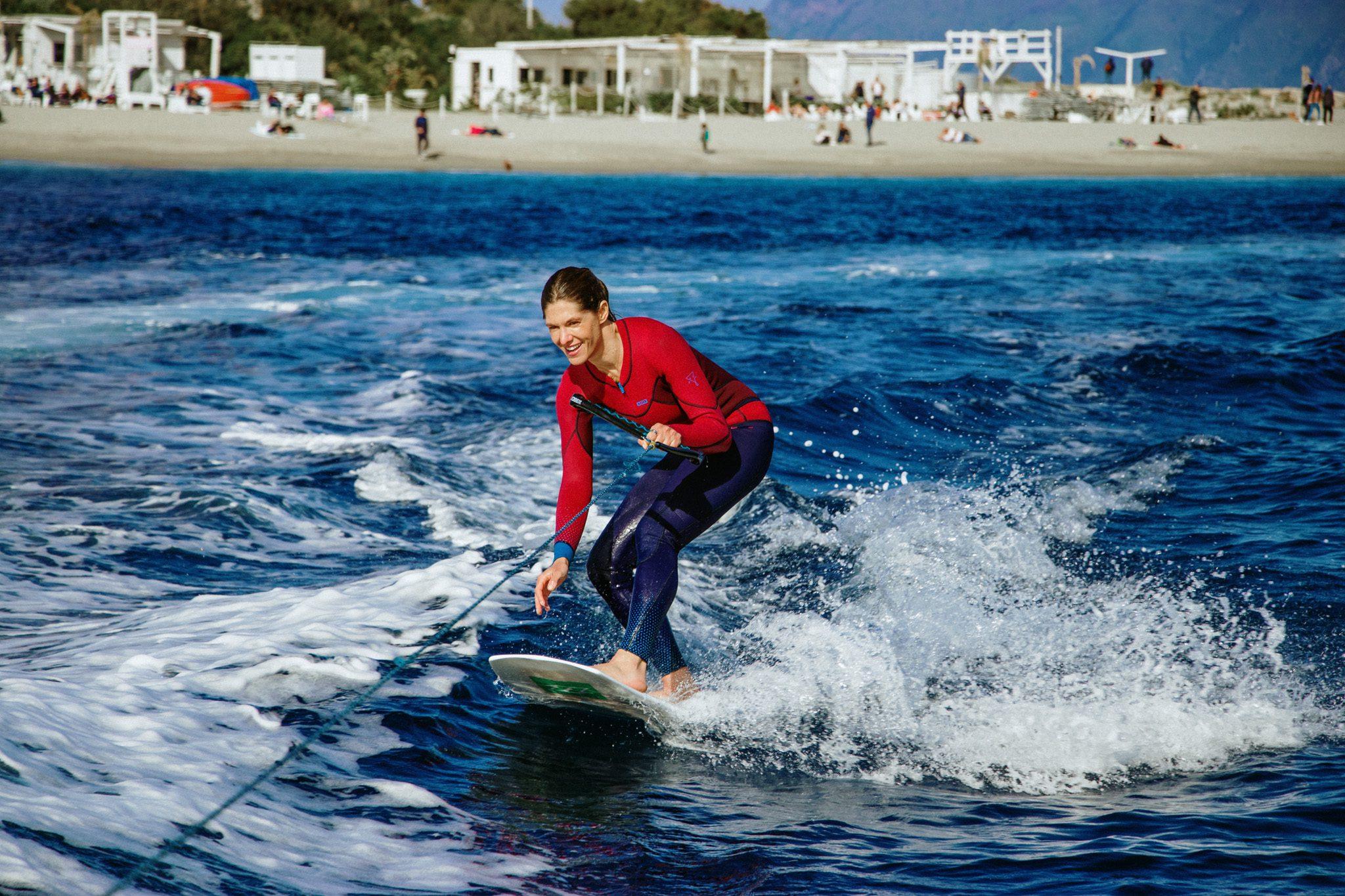 Wakeboarding sullo Stretto