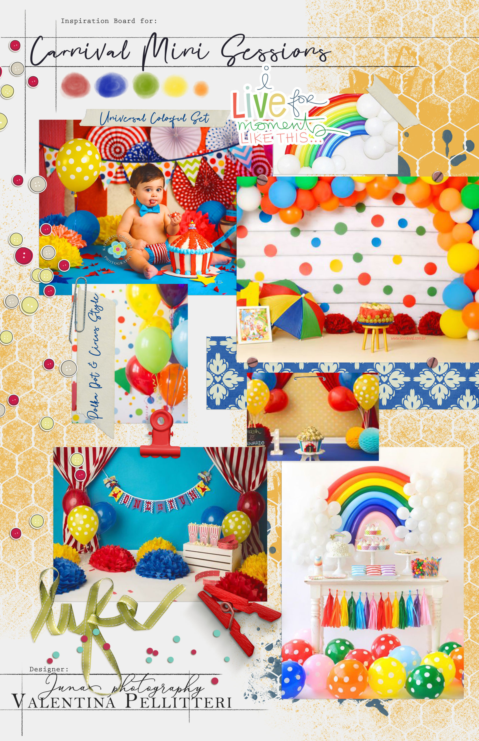 Moodboard mini sessione di carnevale by Juna Photography